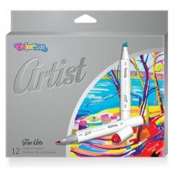 Colorino Artist farebné fixky na skicovanie - 12 farieb
