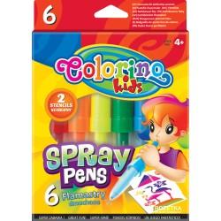Colorino Fúkacie farebné fixky 6 ks-ové