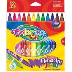 Colorino Farebné fixky Flamastry Jumbo 12 ks-ové