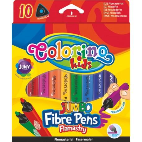 Colorino Farebné fixky trojhranné 10 ks-ové