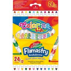 Colorino Farebné fixky 12 ks/24 farieb