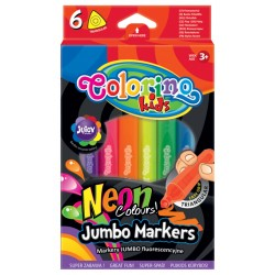Colorino Farebné fixky trojhranné 6 Neon farieb