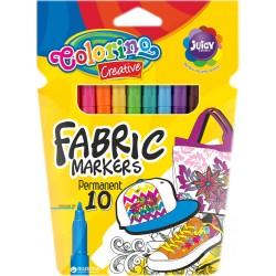 Colorino farebné fixky na textil 10 farieb