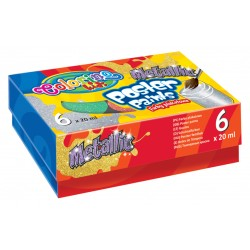 Colorino Kids temperové farby 6x20ml Metallic