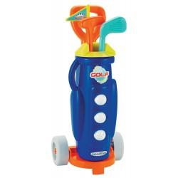 ÉCOIFFIER Golfový vozík s doplnkami - modrý
