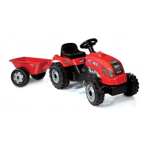 SMOBY šlapací traktor s prívesom Bull - červený