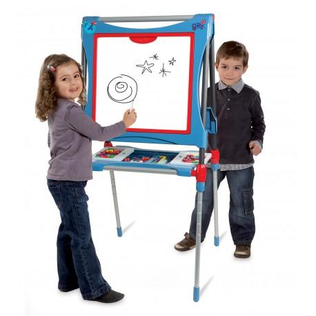 SMOBY Obojstranná detská tabuľa s polohovateľnou výškou - modrá