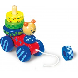 Legler Drevená hračka na ťahanie - Macko