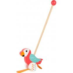 Legler Drevená hračka na tlačenie - Papagáj Lori