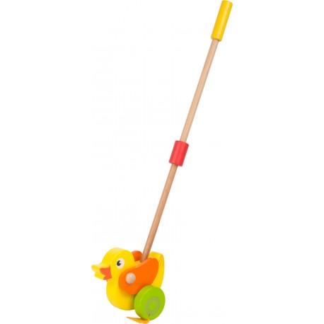 Drevená hračka na tlačenie - Kačička