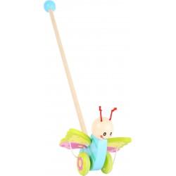 Legler Drevená hračka na tlačenie - Motýlik