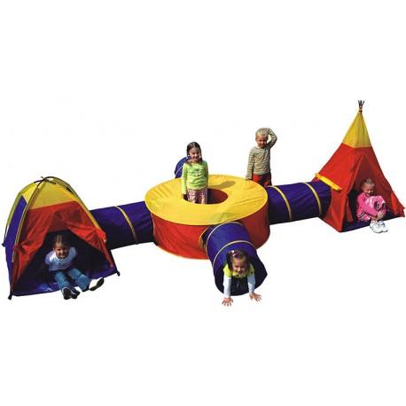 IPLAY Detský 3-dielny stan na hranie Dobrodružstvo