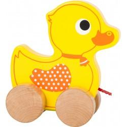 Drevená hračka na ťahanie - Kačička