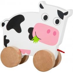 Legler Drevená hračka na ťahanie - Kravička