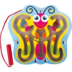 Legler Drevený magnetický labyrint - motýlik