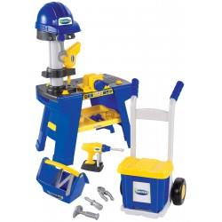 ÉCOIFFIER detská pracovná dielňa Mecanics s prilbou, rudlou a doplnkami