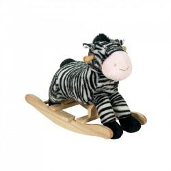 Fortune Detská hojdacia zebra so zvukom