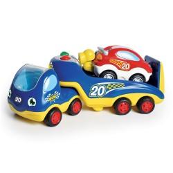 WOW Rocco odťahovacie auto s pretakárskym autíčkom