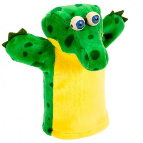 Plyšová divadelná maňuška - Krokodíl