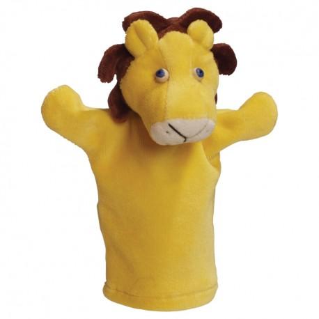 Plyšová divadelná maňuška - Lev