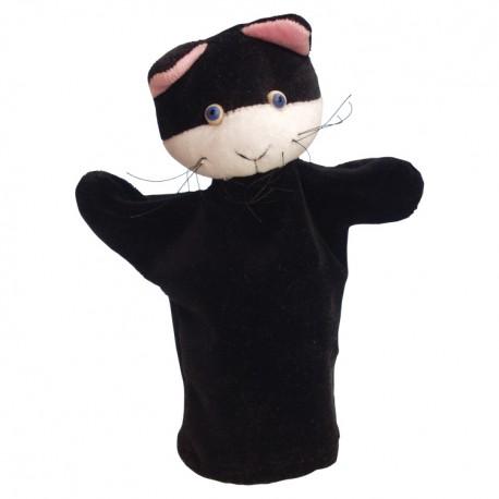 Plyšová divadelná maňuška - Mačička čierna