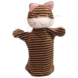 Plyšová divadelná maňuška - Mačička pruhovaná