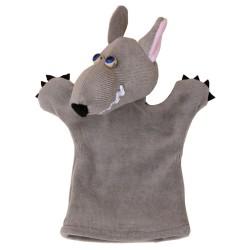 Plyšová divadelná maňuška - Vlk