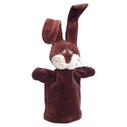 Plyšová divadelná maňuška - Zajačik hnedý