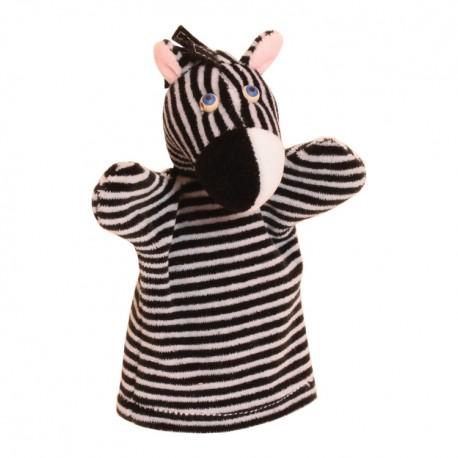 Plyšová divadelná maňuška - Zebra