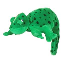 Divadelná maňuška päťprstová - Chameleón - 18 cm - zelený