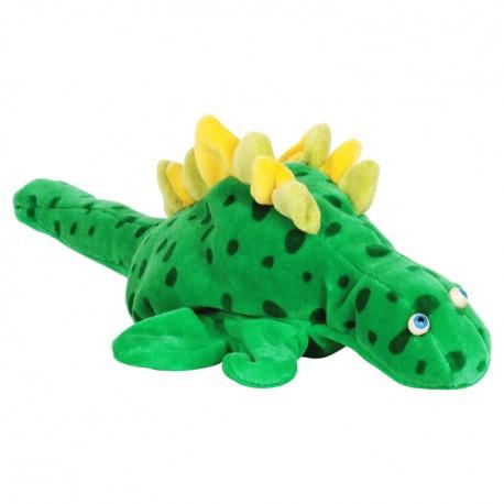 Divadelná maňuška päťprstová - Dinosaurus - 18 cm - zelený