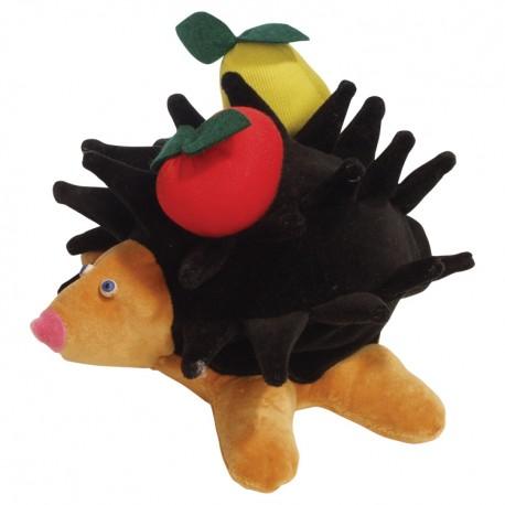 Divadelná maňuška päťprstová - Ježko s ovocím - 18 cm