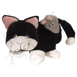 Divadelná maňuška päťprstová - Mačička a myška - 18 cm
