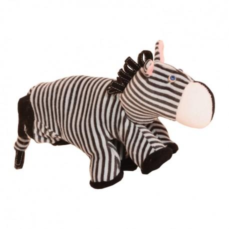 Divadelná maňuška päťprstová - Zebra - 18 cm