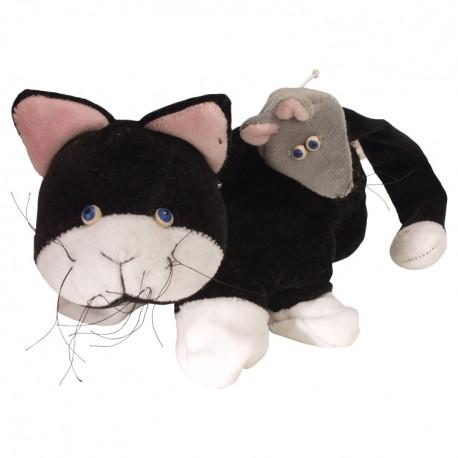 Divadelná maňuška päťprstová - Mačička a myška - 22 cm
