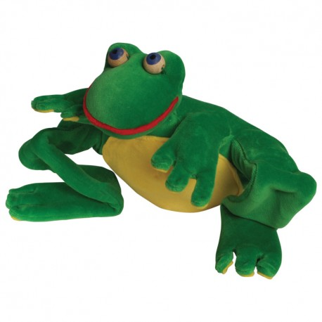 Divadelná maňuška päťprstová - Žabka - 22 cm