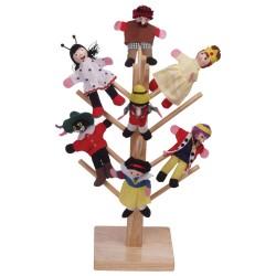 Drevený stojan na divadelné maňušky - malý