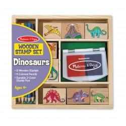 Melissa & Doug Detské pečiatky s farbičkami - Dinosaury