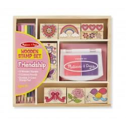 Melissa & Doug Detské pečiatky s farbičkami - Priateľstvo