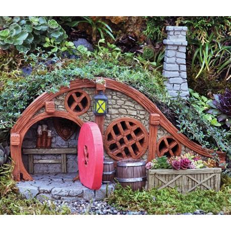 Domček pre miniatúrne záhradky - Chalúpka s červenými dverami
