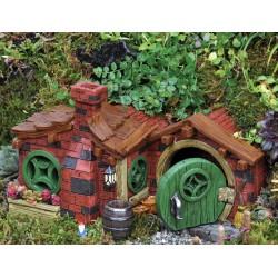 Domček pre miniatúrne záhradky - Domček z tehál