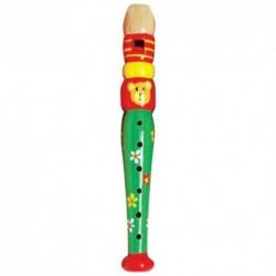 Detská drevená flauta malá - macko