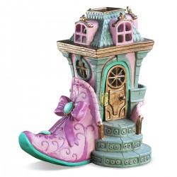Domček pre miniatúrne záhradky - Ružová topánka