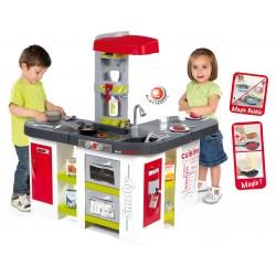Kuchynka pre deti Tefal Studio XXL Smoby elektronická s 38 doplnkami červeno-zelená