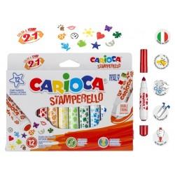 CARIOCA farebné pečiatkové fixky 12ks