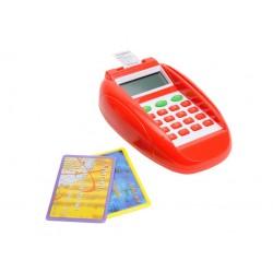 Detský platobný terminál s bankovými kartami