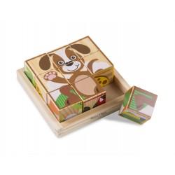Melissa & Doug Drevené obrázkové kocky – Zvieratká