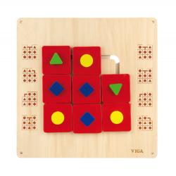 VIGA Drevená didaktická hra na zavesenie - Tvary