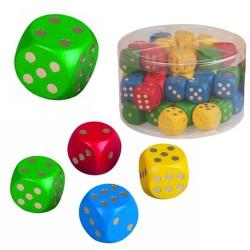 Drevená hracia kocka - 2,5 cm - zelená