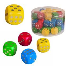 Drevená hracia kocka - 2,5 cm - žltá
